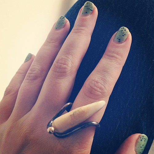 Coyote tooth #vintage ring. #jewelry