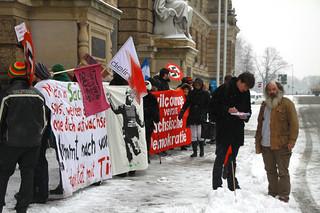 Protest gegen den Prozess gegen Lothar König