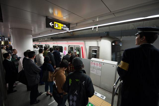 東横渋谷地下化初列車
