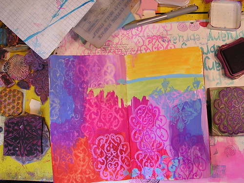 Vibrant Colors Art Journal page 6