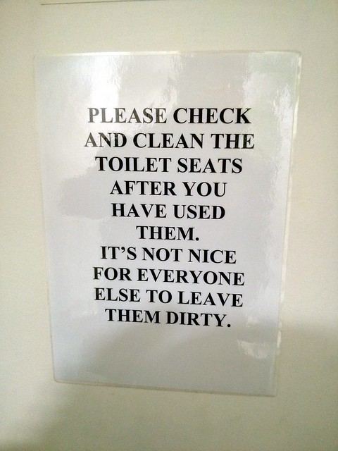 Please Clean The Toilet Seats Sign Forbidden Planet Lond