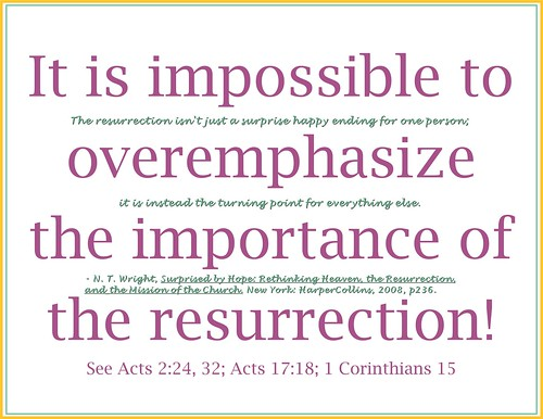 Importance of the resurrection