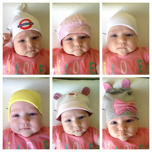 Все мои шестеро младенцев вчера разбирали свой шапочный запас. Какая шапка ваш фаворит? Женя за 2. Я за 6, хотя люблю все!