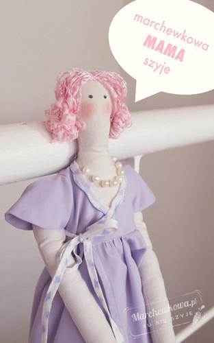 blog, szycie, krawiectwo, lalka, Tilda doll made by Mom
