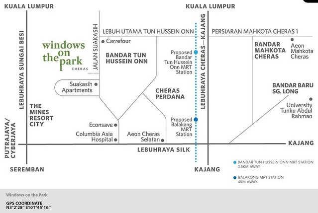 Windows On The Park - Map