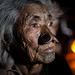 portrait in front of the fire, Apatani tribe, ziro, arunachal pradesh