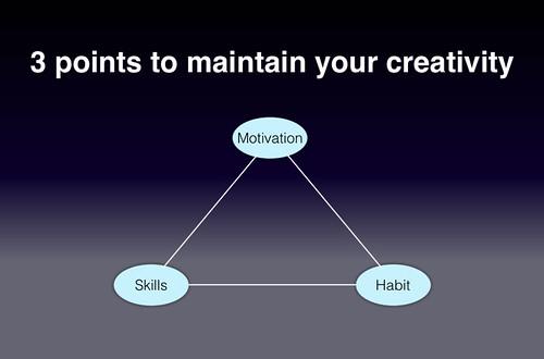3points to mainain your creatiity