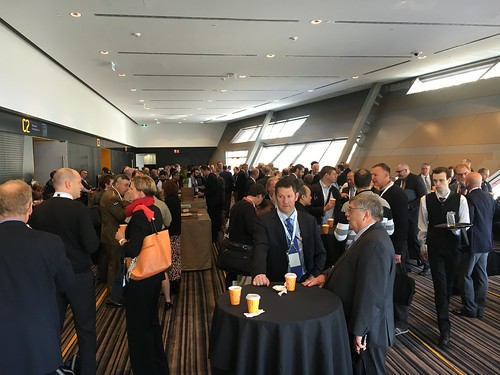 Morning tea at Land Forces 2016