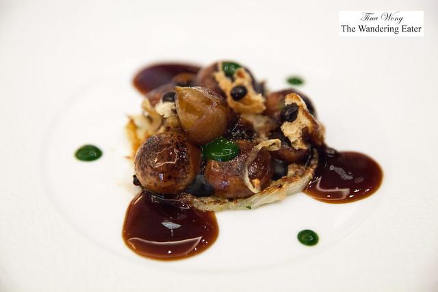"Gratinated onions, contemporary ""Parisian"" style"