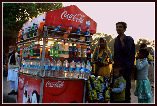 Drinks Stall, Delhi. by Howard Somerville