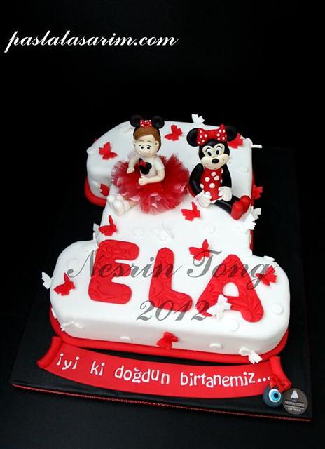 ela minie mouse 1st birthday cake (Medium)