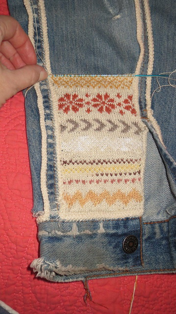 start of fair isle knitting