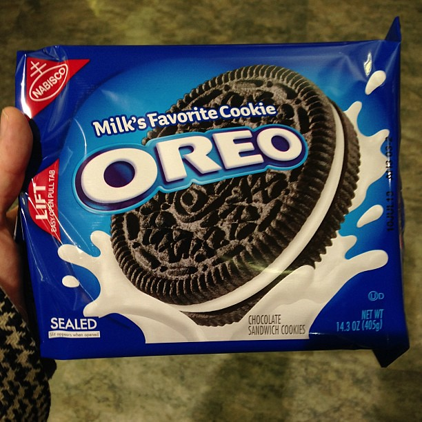 I was grouchy this morning, so I bought @jake_nerdnest Oreos.