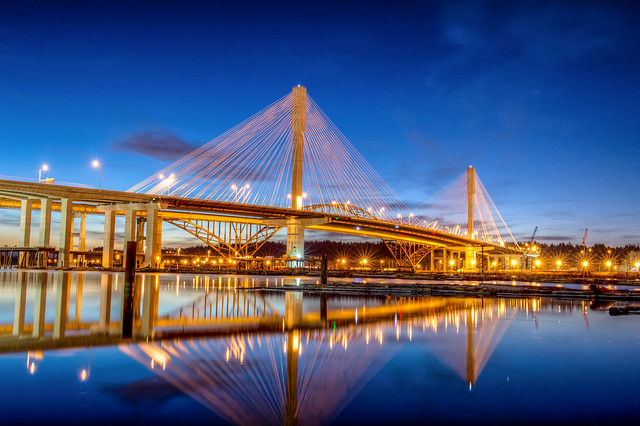 Port Mann Bridge at Sunrise
