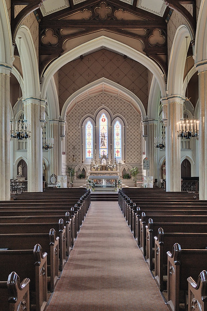 Old Saint Vincent Catholic Church, in Cape Girardeau, Missouri, USA - nave