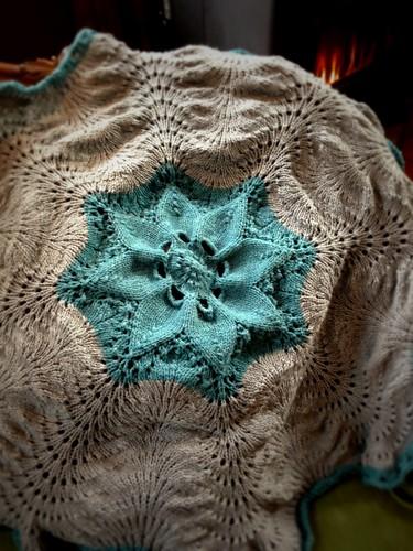 Knitting Hemlock baby blanket