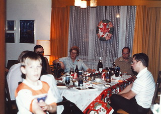 West Germany   -   Crailsheim   -   McKee Barracks    -   Bldg 209   -   Christmas at the Richards'   -   JJ, John, Oma, Jim & Rick   -   1979
