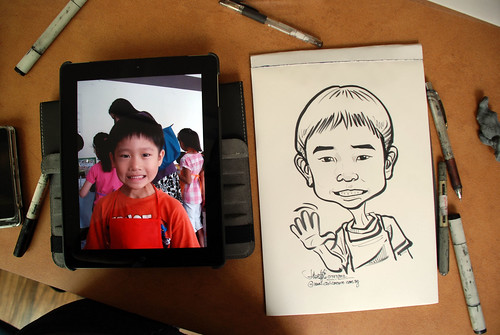 caricature sketching for a birthday party 07072012 - 5