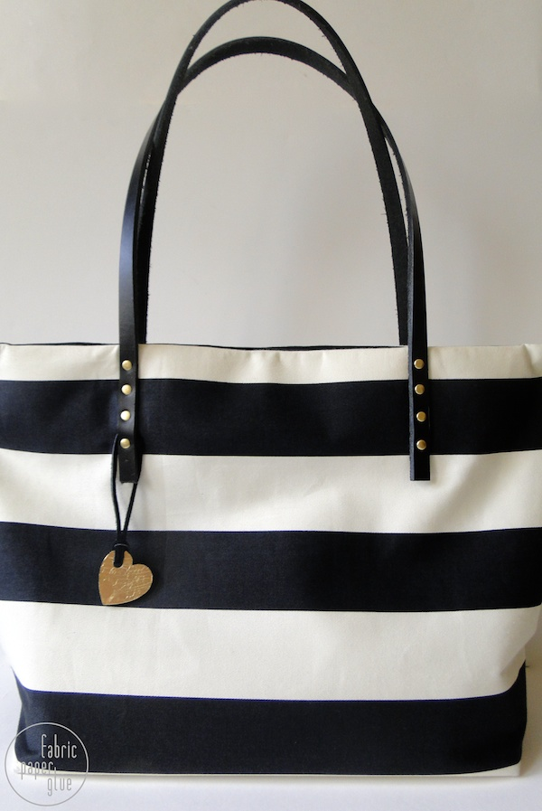 Striped Tote Redux 4
