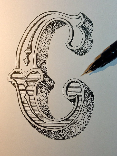 Sketch - Letter C for Crap   Crap, that was a lots of dots ...