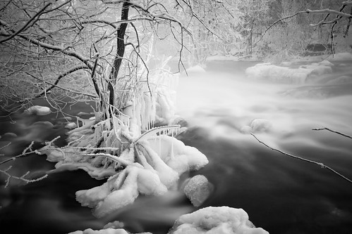 longexposure trees winter blackandwhite bw snow cold ice nature water monochrome contrast river landscape rocks whitewater stream branch sweden hoarfrost tripod highcontrast nopeople le powerplant darkwater scandinavia hydropower uwa sigma1020mm östergötland ndfilter ultrawideangle neutraldensityfilter iceformations nordics vretakloster lightcraftworkshopnd500 sonyalphaslta77 odenfors