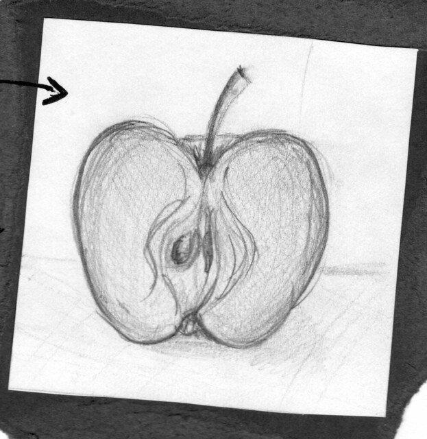 how to cut a fancy apple