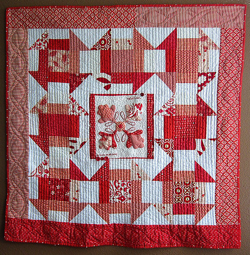 Red Love Quilt - Sally's Angelworks