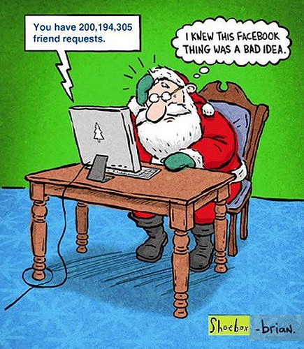Santa on Facebook - Internet Jokes
