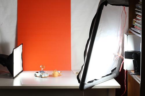 Setup for the Mirai photoshoot