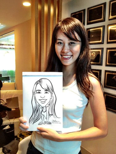caricature live sketching for Orchard Scotts Dental for Miss Universe Singapore - 4