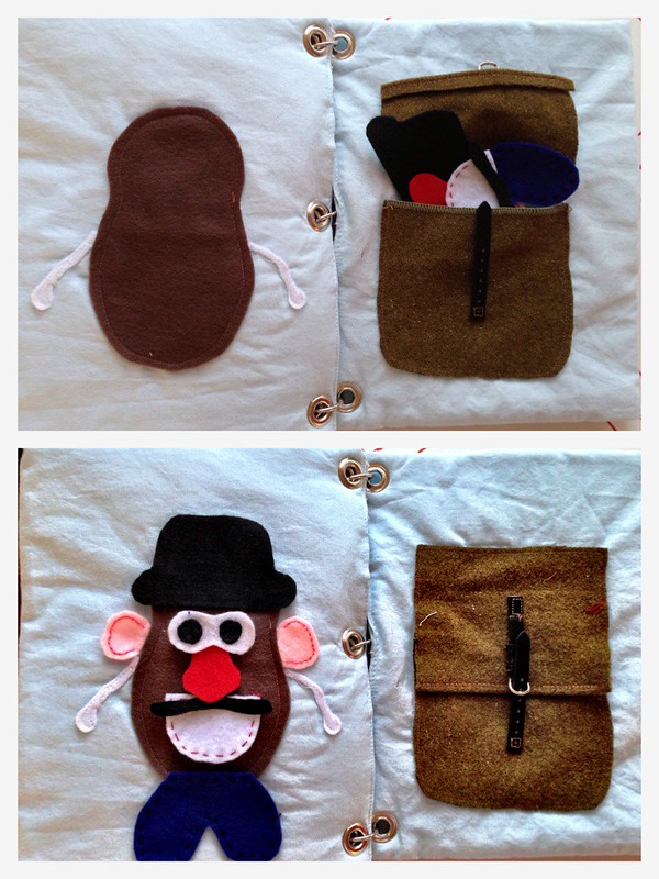 quiet book page mr potato head