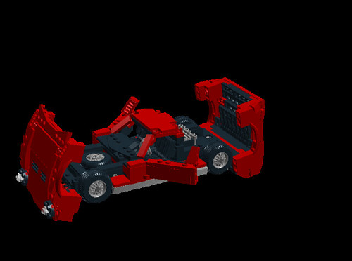 Lamborghini Miura P400SV all open