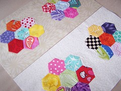 hexagon paper pieced quilt block