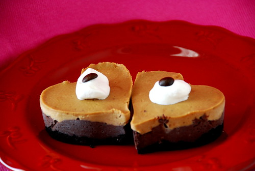 "Mini Mocha Cheesecakes with ""Heart"""