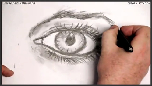 learn how to draw a human eye 026