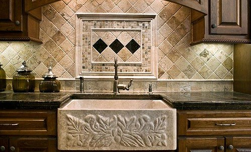 Travertine tile design