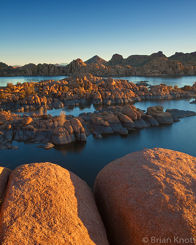 winter arizona lake ice water sunrise dawn rocks desert watson granite prescott dells brianknott forgetmeknottphotography fmkphoto