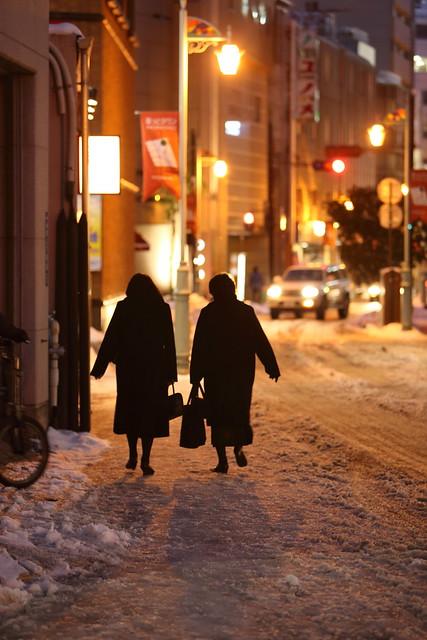 凍結した歩道