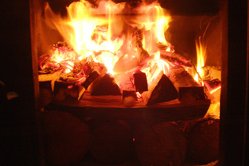 to build an upside-down fire ( and revolutionize sauna starting? ). II.