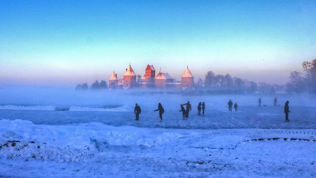 0342 - Lithuania, Trakai, Ice Skaters HDR