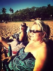 Mom and Lena, beachin'