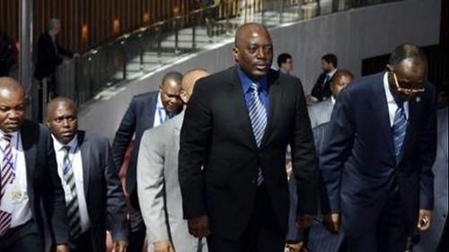 Democratic Republic of Congo President Joseph Kabila arriving at the African Union summit in Addis Ababa, Ethiopia in late January 2013. A new peace agreement has been signed to resolve the conflict in eastern DRC. by Pan-African News Wire File Photos