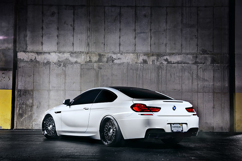 White BMW 650 with Nessen Forged Wheels.