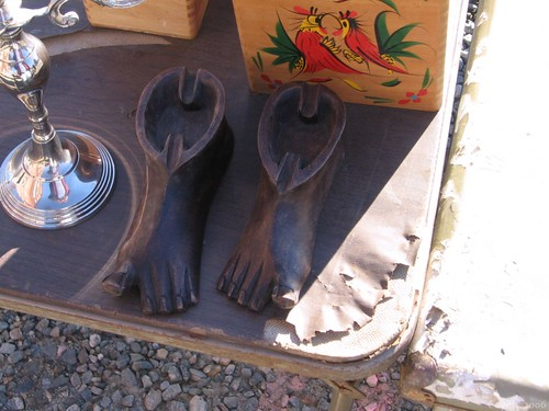 Cast-iron ashtray feet, College Mart Flea Market, Connecticut by Coyoty