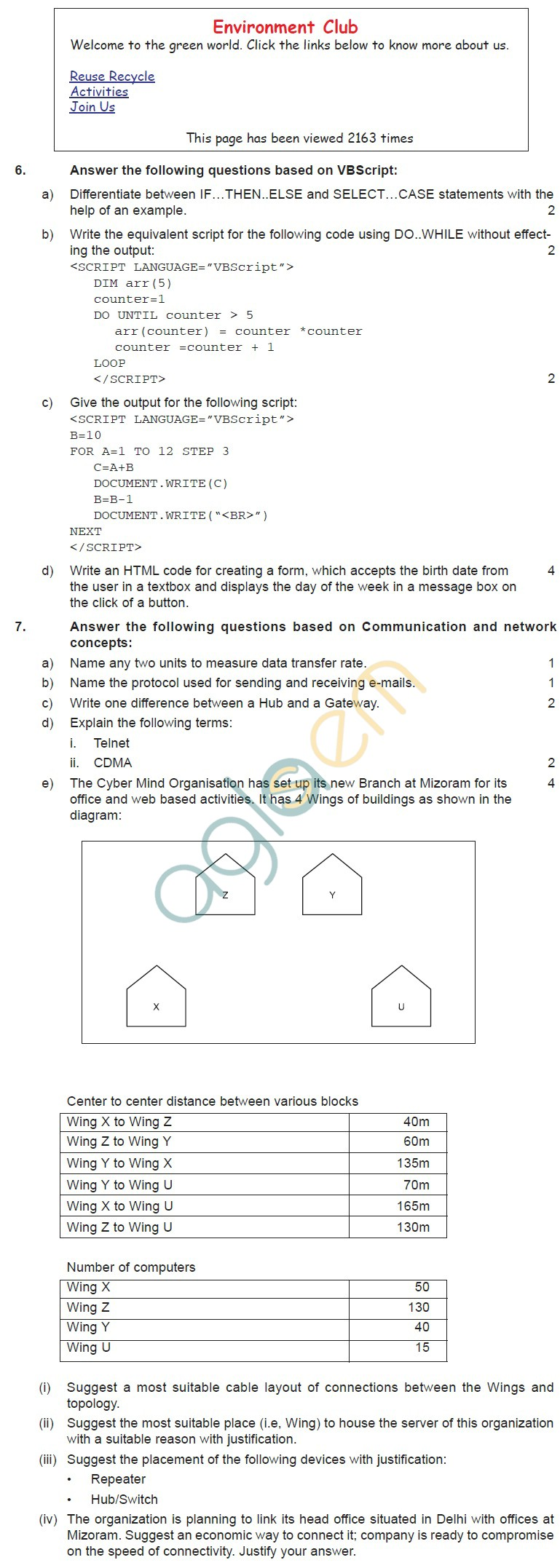 CBSE Board Exam 2013 Sample Question Papers for Multimedia and Web Technology