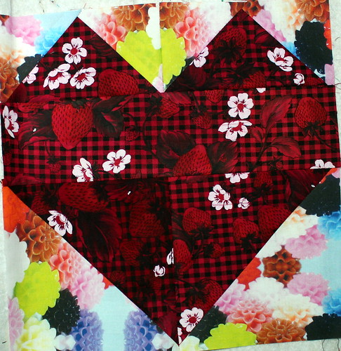 Heart Block for the My Favorite Block Quilt Along
