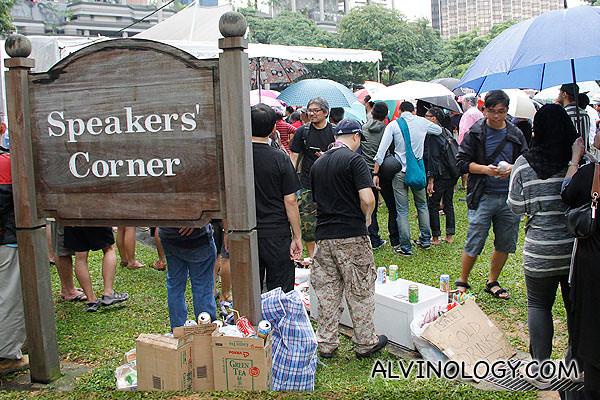 I have never seen our Speakers' Corner so crowded before