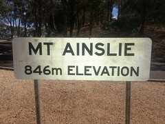 Mt Ainslie Sign