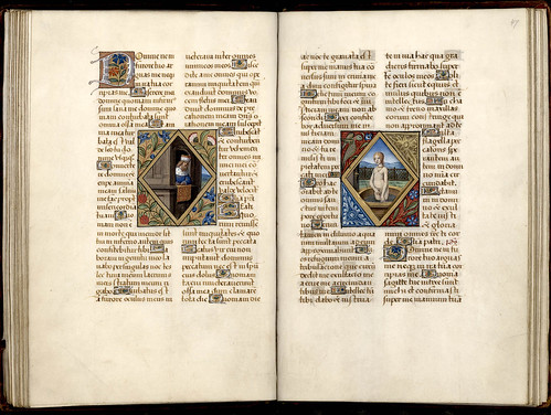 033-46v-47r-Thott 541 4 ° Liber horarum –Francia 1500- The Royal Library