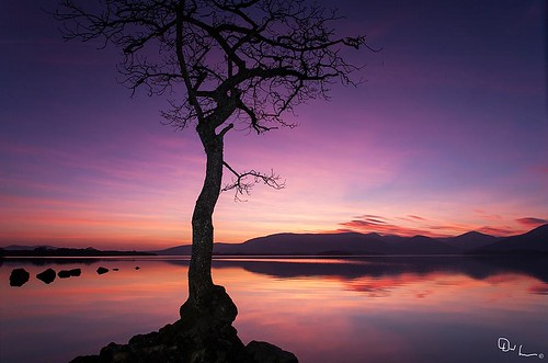 Sunset on Loch Lomond by David Hannah